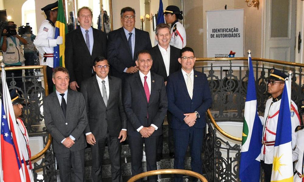 Fórum de Governadores da Amazônia Legal que ocorreu no Palácio dos Leões, sede do Governo do Maranhão e também residência oficial do governador Flávio Dino;